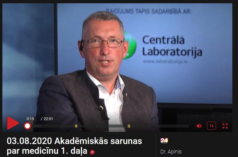 Dr. Kaspars Peksis Akademiskās sarunas par medicīnu Rīga TV24